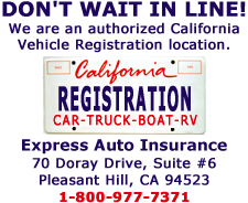 Authorized to provide vehicle registration by the State of California, Department of Motor Vehicles
