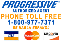 Progressive Authorized Agent 1-800-977-7371